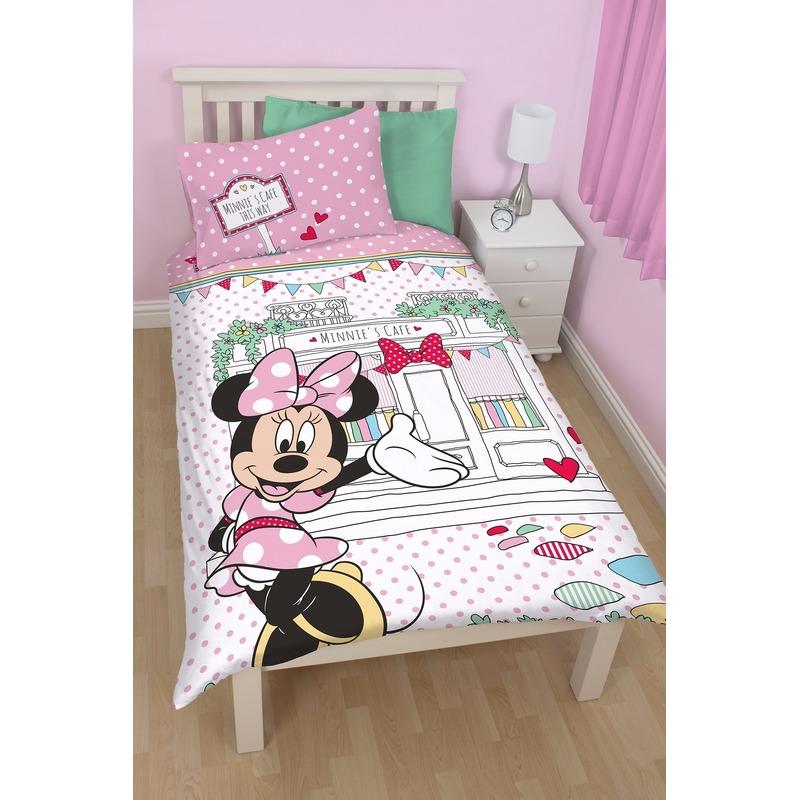 Minnie Mouse cafe dekbedovertrek meisjes 140 x 200 cm