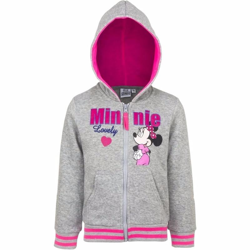 Minnie Mouse sweater met rits grijs