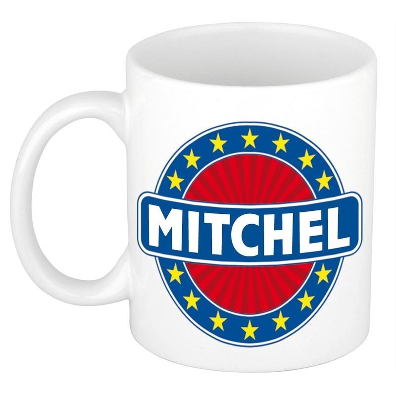 Mitchel naam koffie mok - beker 300 ml