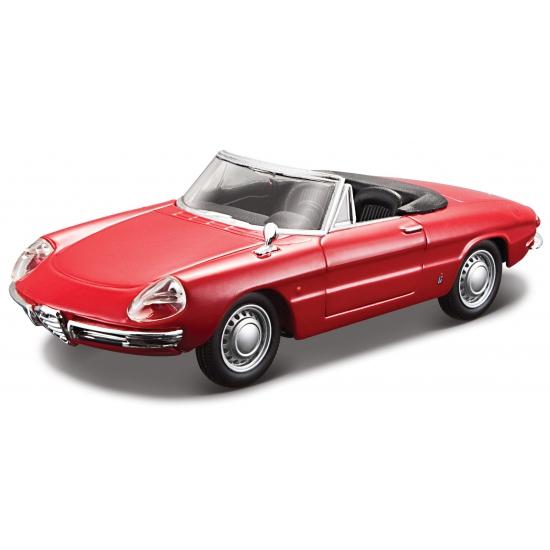 Modelauto Alfa Romeo Spider 1966 rood 1:32
