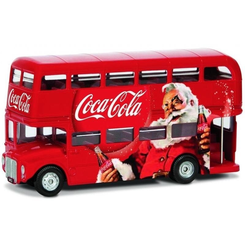 Modelauto Londen bus kerstmis 1:36