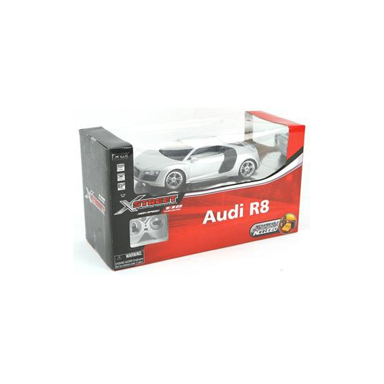 Modelauto zilveren sportauto Audi R8