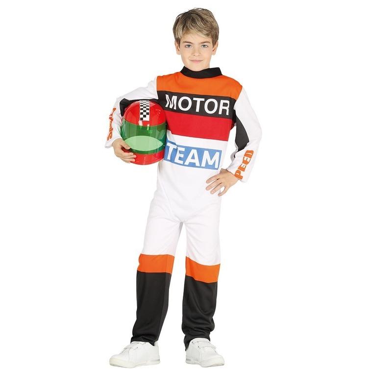 Motorcoureur verkleed kostuum voor kinderen