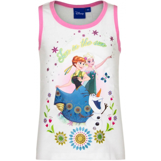 Mouwloos Frozen t-shirt wit