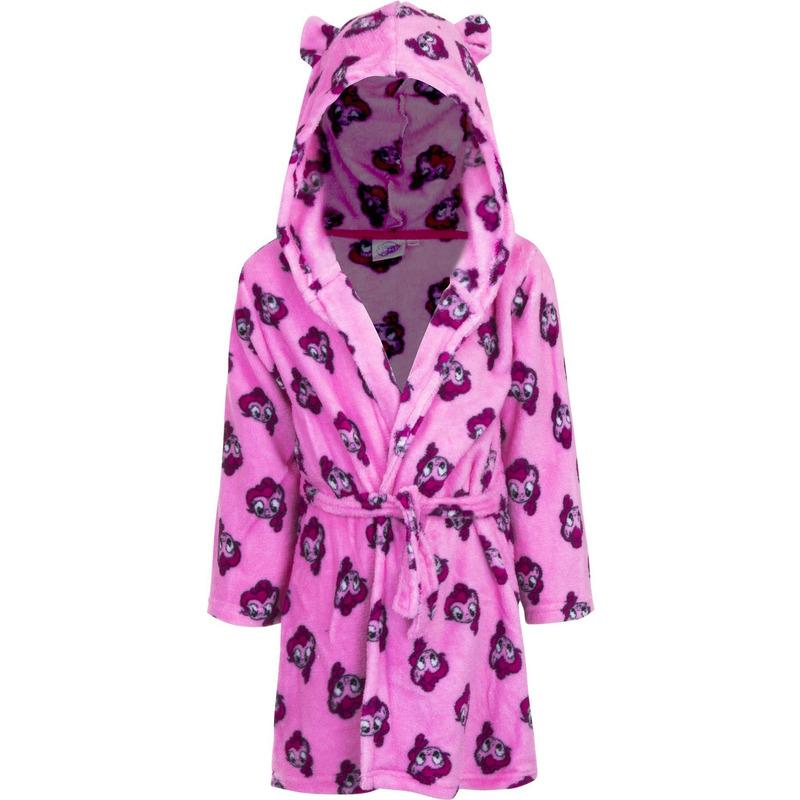 My Little Pony badjas roze met capuchon voor kinderen