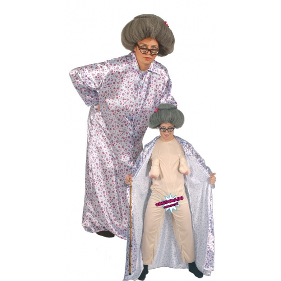 Naakte oma fun kostuum