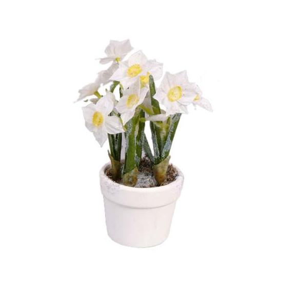 Narcissen in witte pot 23 cm