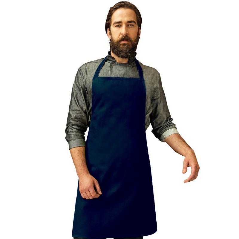 Navy barbecue keukenschort voor volwassenen