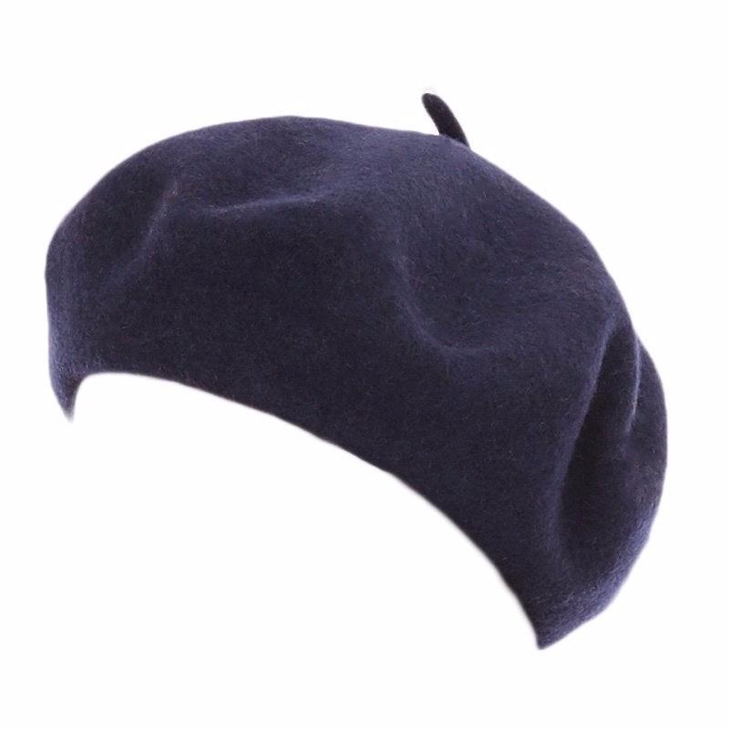 Navy blauwe baret voor dames