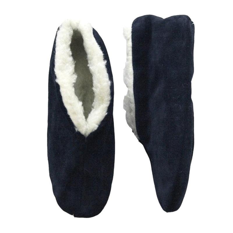 Navy blauwe Spaanse sloffen/pantoffels voor dames/heren