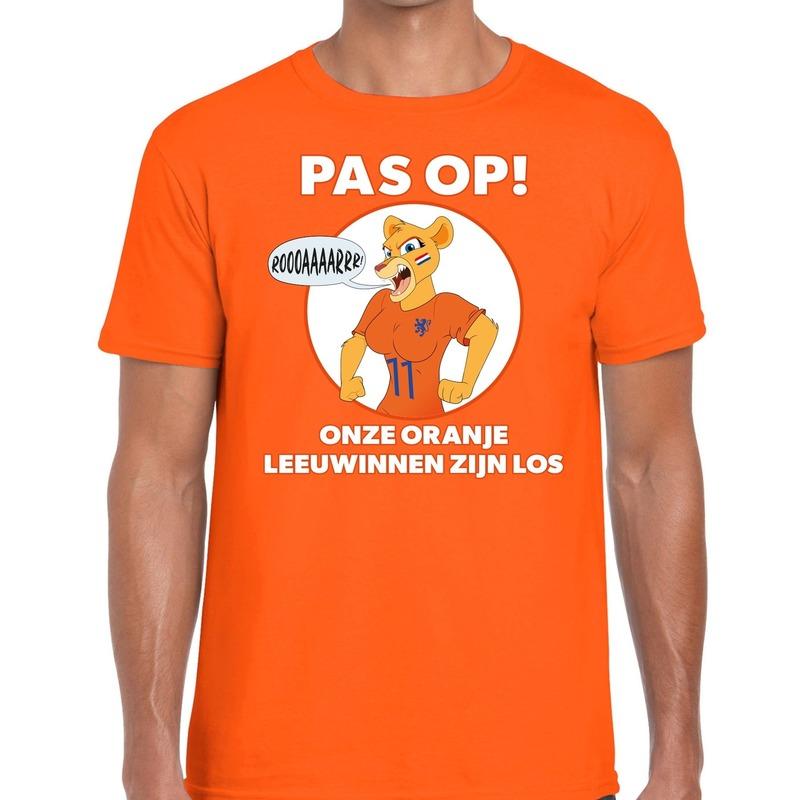 Nederland supporter t-shirt Leeuwinnen zijn los oranje heren