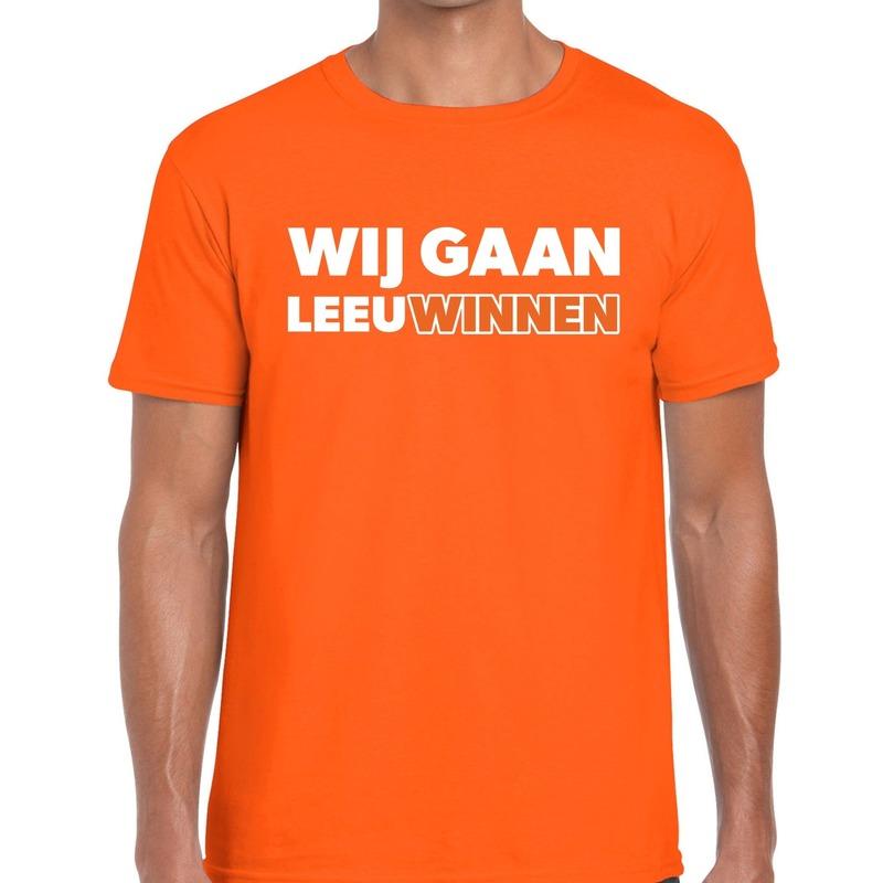 Nederland supporter t-shirt Wij gaan Leeuwinnen oranje heren