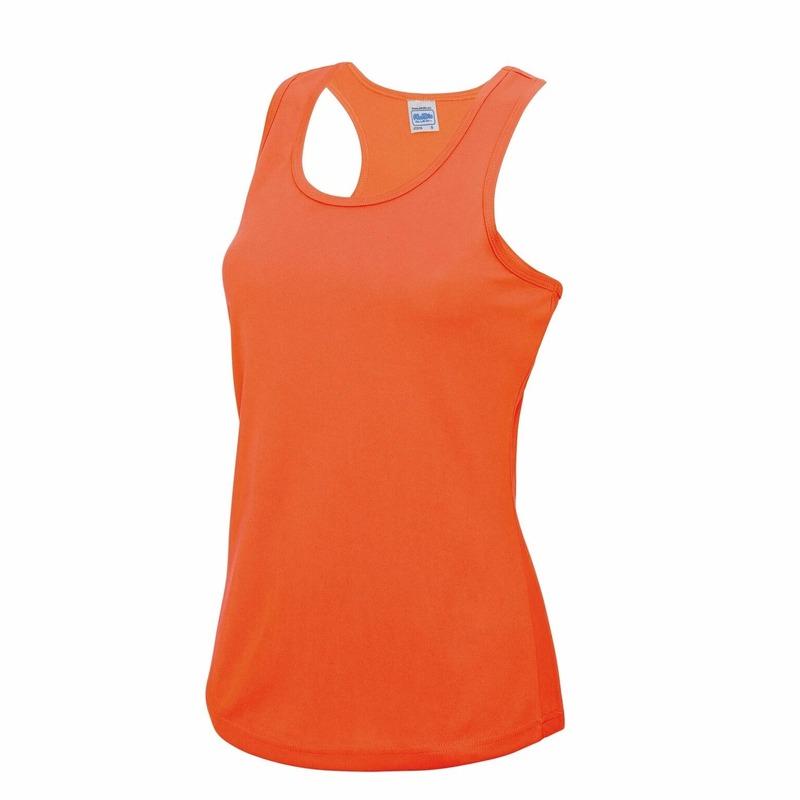 Neon oranje sport singlet voor dames