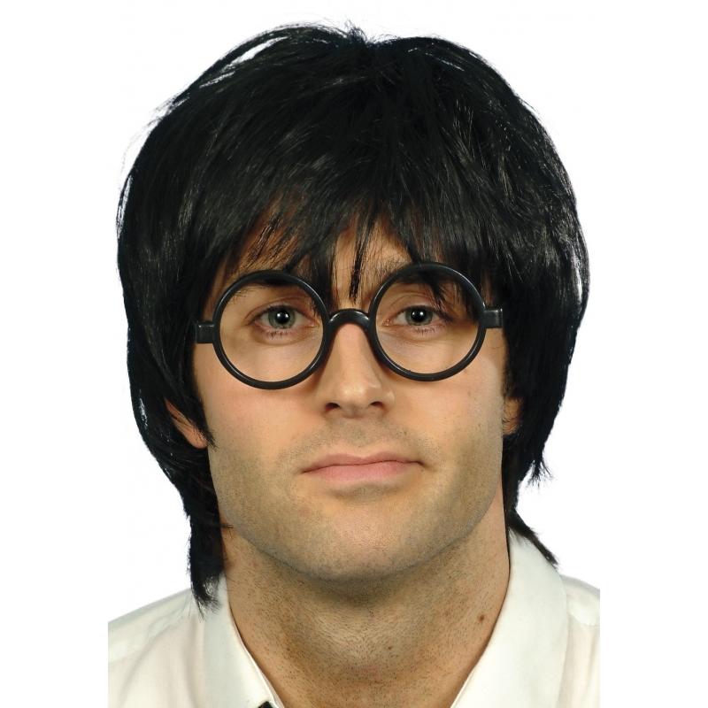 Nerd pruik met bril