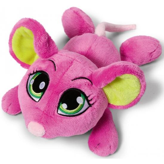 Nici roze knuffel muis 25 cm