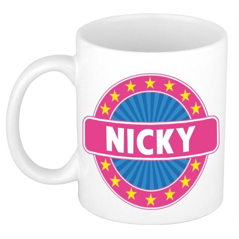 Nicky naam koffie mok-beker 300 ml
