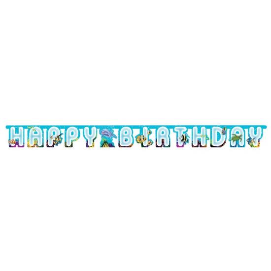 Oceaan wenslijn happy birthday