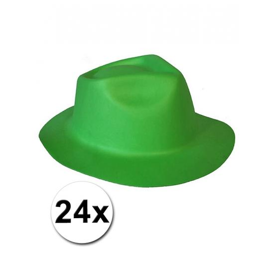Oktoberfest - 24 groene hoedjes van foam