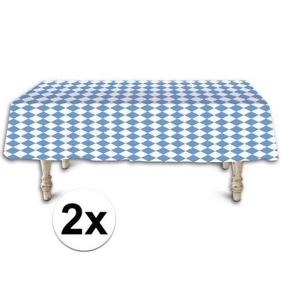 Oktoberfest - 2x Beieren tafelkleden/tafelzeilen 137 x 275 cm