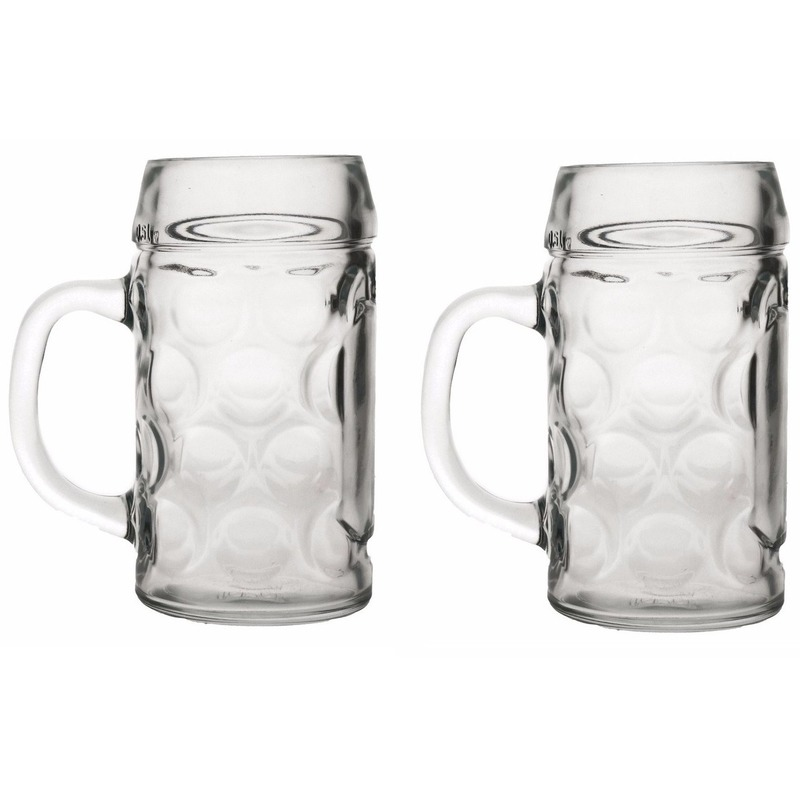 Oktoberfest - 2x Bierpullen/Bierglazen 1 liter Oktoberfest glazen