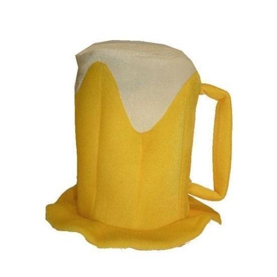 Oktoberfest - Bierpul hoed verkleedaccessoire voor volwassenen