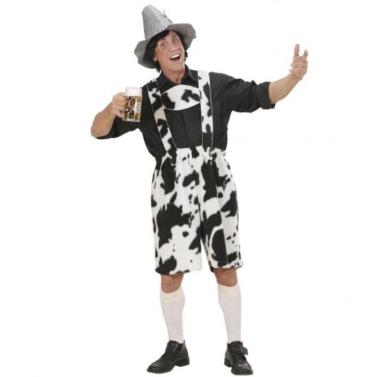 Oktoberfest - Lederhose met koeienprint
