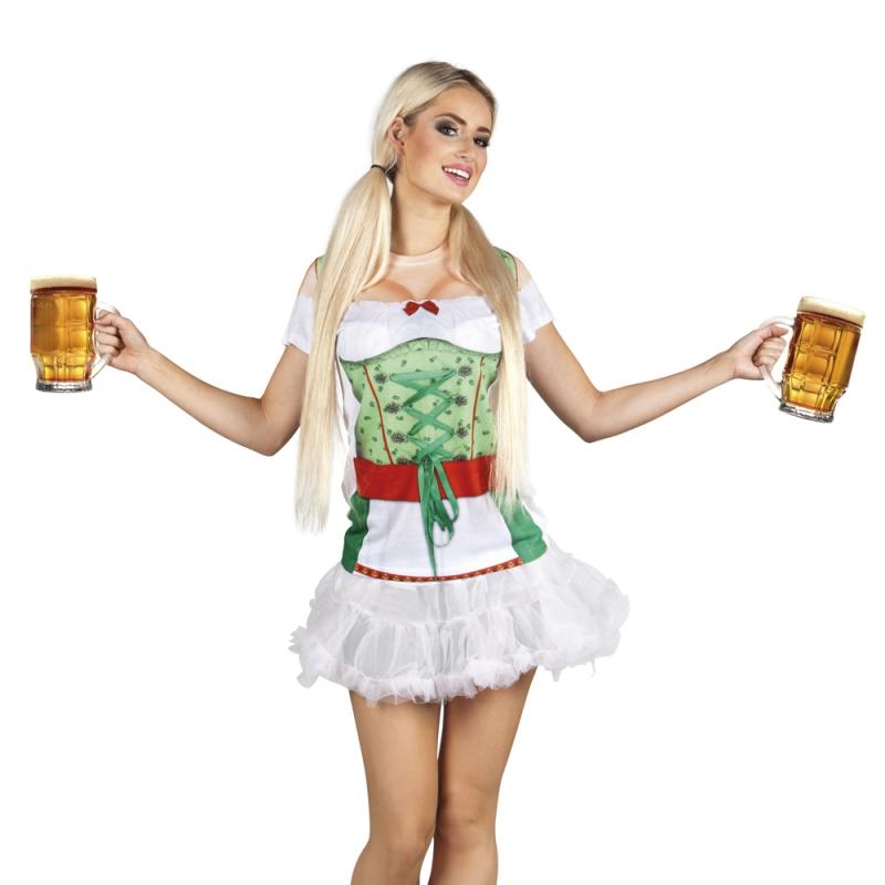 Oktoberfest - Shirt tiroler oktoberfest opdruk dames