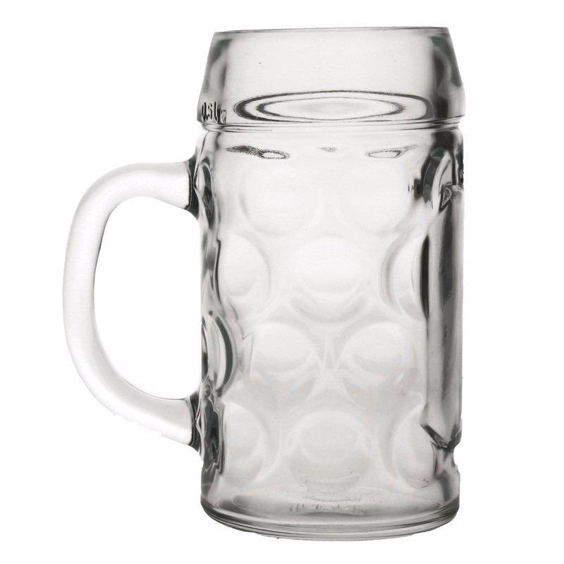Oktoberfest - Voordelige bierpullen/bierglazen 1 liter