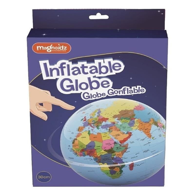 Opblaas wereldbol 30 cm speelgoed