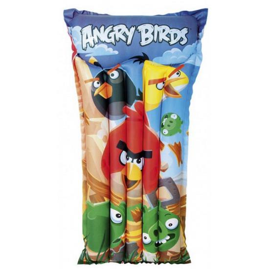 Opblaasbaar Angry Birds luchtbed/matras 119 x 61 cm