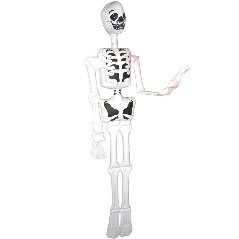 Opblaasbaar skelet/geraamte 180 cm decoratie