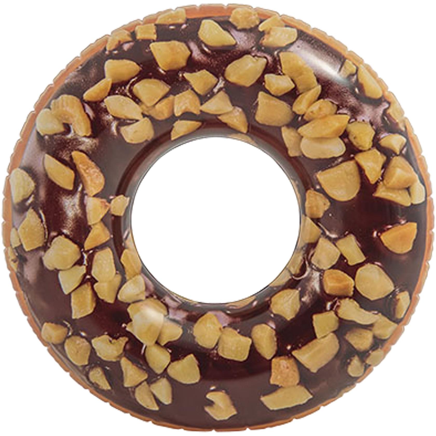 Opblaasbare chocolade donut XXL zwemband 114 cm