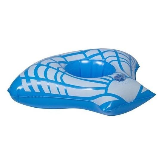 Opblaasbare drankhouder blauwe zeeschelp 23 cm