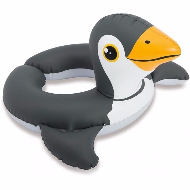 Opblaasbare pinguin zwemband-zwemring 62 cm