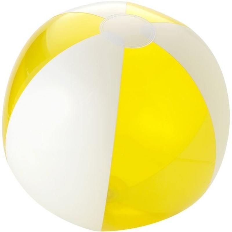 Opblaasbare strandbal geel