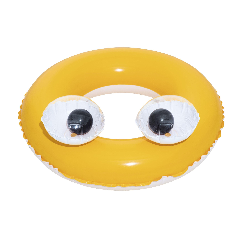 Opblaasbare zwemband geel 61 cm voor kinderen