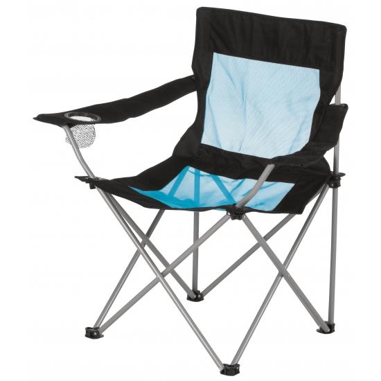 Opvouwbare campingstoel met leuning