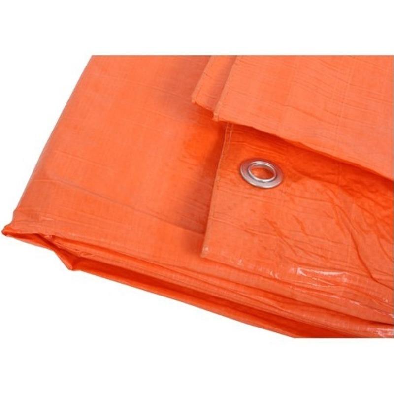 Oranje afdekzeil-dekzeil 6 x 8 meter
