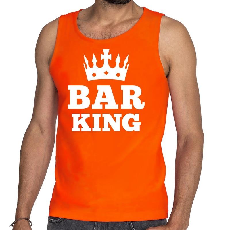 Oranje Bar King tanktop - mouwloos shirt heren