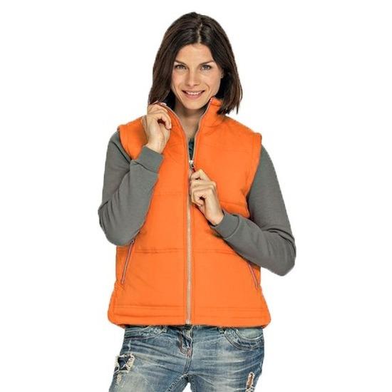 Oranje bodywarmer voor dames