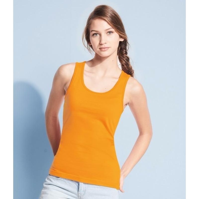 Oranje dames tanktop