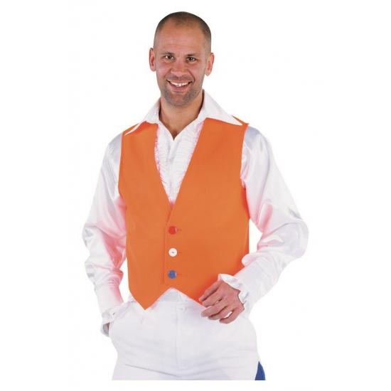 Oranje gilet voor heren