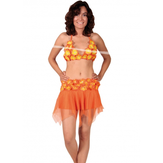 Oranje Hawaii rok en bikini