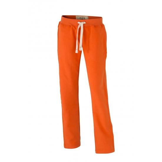 Oranje jogging damesbroek vintage