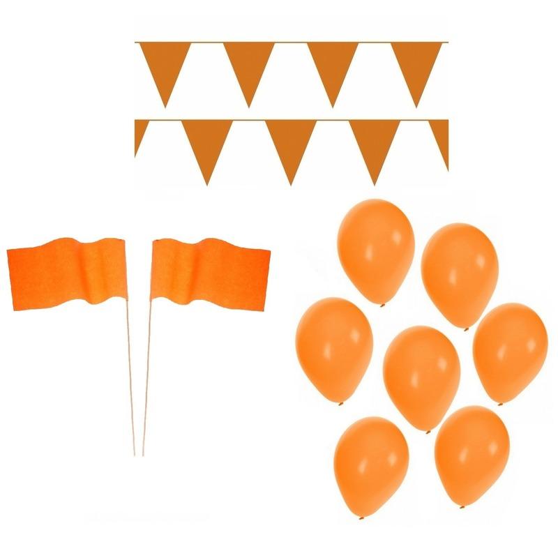 Oranje Koningsdag versiering feestpakket