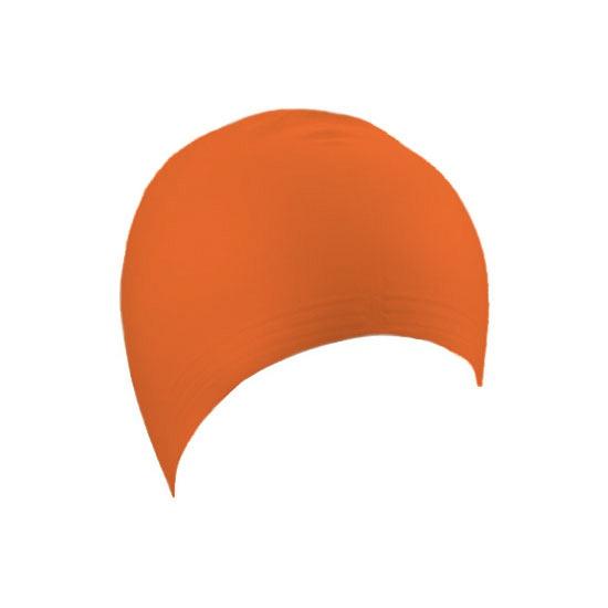 Oranje latex badmuts voor volwassenen