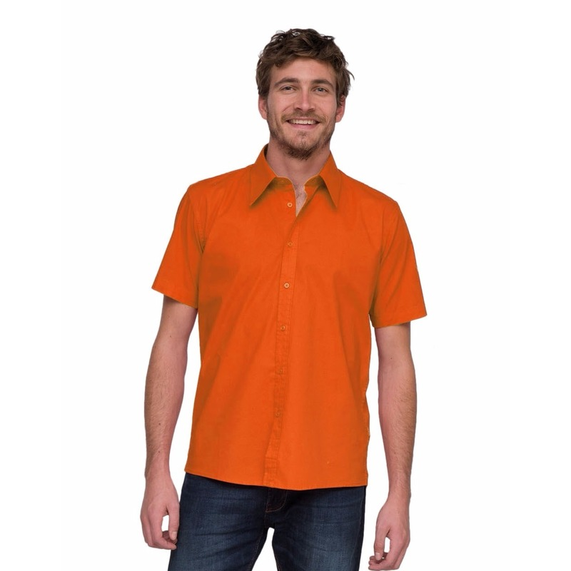 Oranje Lemon&Soda overhemd voor heren
