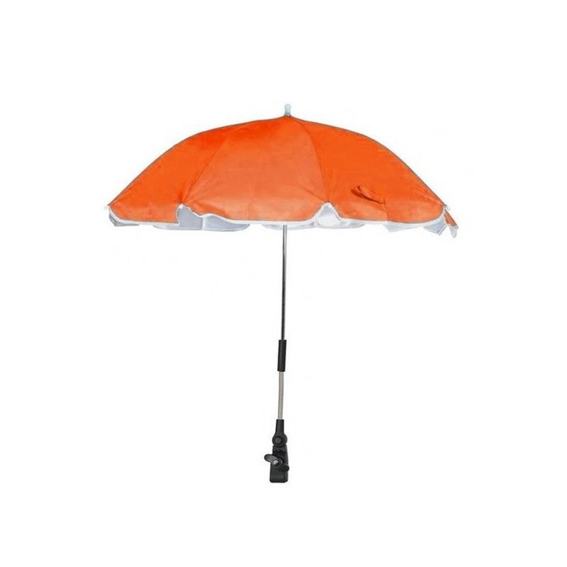 Oranje parasol voor stoel of kinderwagen 100 cm