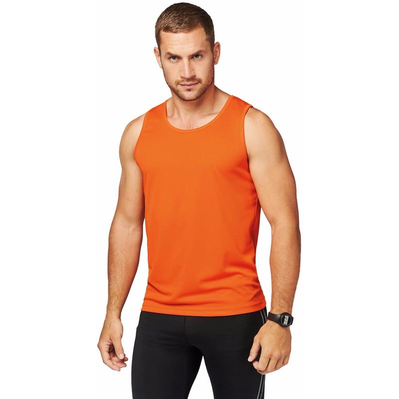 Oranje sport singlet voor heren