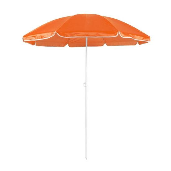Oranje strand parasol van nylon 150 cm